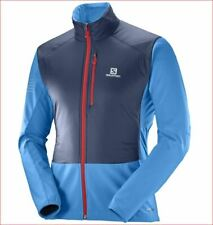 new Salomon men motionfit Air jacket Primaloft advancedSkin blue sz L $180