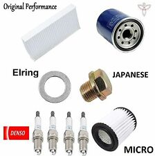 Tune Up Kit Cabin Air Oil Filters Spark Plugs for Acura RSX Base 2004-2006