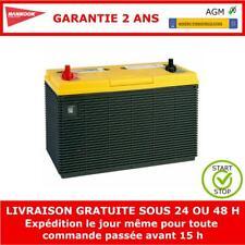12V 100Ah AGM Batterie de Loisir 330x172x242mm - Garantie de 2 Ans