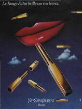 Publicité Advertising YVES SAINT LAURENT beauté  le rouge à lèvre