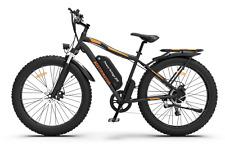 GLW Electric Bike Bicycle 750W 48V 13ah Li Battery Fat Tire Rear Rack FR Light