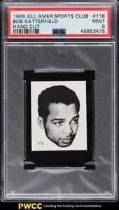 1955 All-American Sports Club Strip Card Bob Satterfield #116 PSA 9 MINT