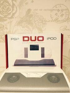 New Tecnoplus Duo Stereo Desktop Speaker for iPod, PSP, Nano, Phone, iPad etc