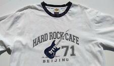 VTG Hard Rock Cafe Beijing Logo Mens XL Short Sleeve Gray Black T Shirt EUC
