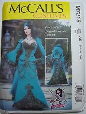 McCall's M7218 Cosplay, Costume, Steampunk Peacock Gown Pattern New Sz 6-14