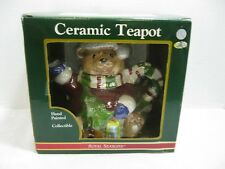 Royal Seasons Christmas Mouse Ceramic Teapot Hand Painted New in Box