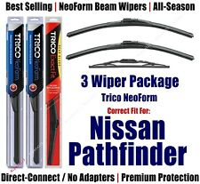 3pk Wipers Front & Rear - NeoForm - fit 1987-1995 Nissan Pathfinder 16190x2/10-1