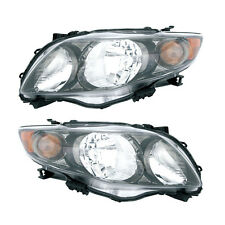 09-10 Toyota Corolla S/XRS Headlight Assembly Driver Passenger Side Pair