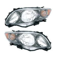 09-10 Toyota Corolla S/XRS Headlight Assembly Driver Passenger Side Pair