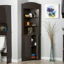 Bathroom Storage Linen Cabinet Bedroom Living Room Corner Cabinets Slim Wooden