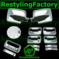 04-08 Ford F150 Chrome Mirror+4 Door Handle+no keypad+no KH+Tailgate+Gas Cover