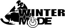 Snowmobile decal, winter mode vinyl decal, ski-doo stickers, ski-doo decals