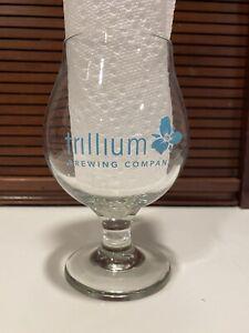 trillium brewing glass teal