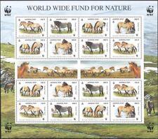 Mongolia 2000 WWF/Przewalskis Horses/Nature/Wildlife/Conservation 16v sht b6548g