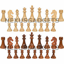 """Weighted XL Chess Game Pieces with Extra Queens - 4.25"""" King, BOARD NOT INCLUDED"""