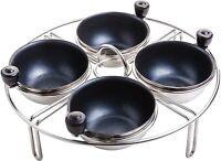 Eggssentials Stainless Steel Egg Poacher Pan Insert | 4 Poached Egg Cups PFOA Fr