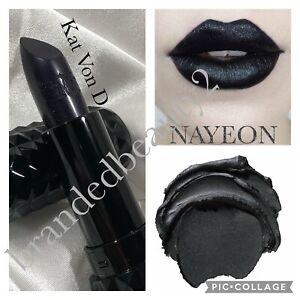 Kat Von D🖤STUDDED KISS Lipstick NAYEON Glimmer BLACK No Box