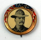 Teddy Roosevelt 1896 Political Campaign Pinback Button Pre Rough Riders Rare