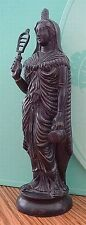 Greek Black Isis Ancient Egyptian Statue Mother Goddess with Music Sistrum #GIS