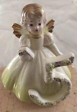 Josef Originals Applause Ceramic Birthday Girl Angel Figurine 5 Years
