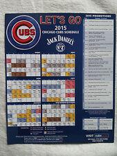 Chicago Cubs 2015 Magnet Schedule Jack Daniel's Sponsored