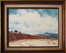 "ARIZONA LANDSCAPE PAINTING ""NAVAJO FAMILY"" ~ LISTED ARTIST ROBERT KNUDSON ~ 1972"