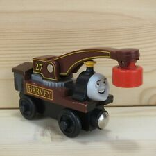 HARVEY - THOMAS & FRIENDS WOODEN TRAIN ENGINE - 2002 LEARNING CURVE