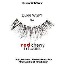 3 X RED CHERRY 100% HUMAN HAIR BLACK FALSE EYE LASHES #DW BRAND NEW