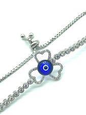 925 Sterling Silver  Lucky Eye Bracelet #9393