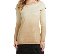 NWT Reba Women Ombre Sequined Sweater Size S