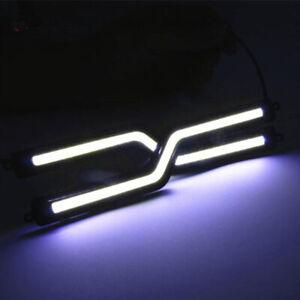 Car Light Z Shape DRL Fog Driving Daylight Daytime Running LED White Head Lamp
