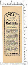 3745 Couch's Piano Forte Polish c. 1895 bottle label furniture