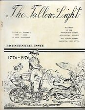 a2- 1976 Tallow Light Washington County OHIO Historical Society - BICENTENNIAL