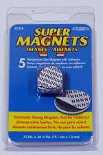 5 Stück Neodymium-Magnete 19 x 1,5 mm mit Klebeseite