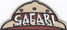 """SAFARI"" HAT PATCH-Iron On Embroidered Applique/Wild Animals, Zoo, Jungle,Trip"