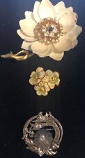 Vintage Brooches Lot of 3