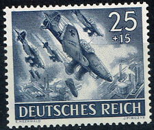 Germany WW2 Third Reich Aviation Airfirce Dive Bombers in Action stamp 1943 MLH