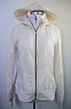 LULULEMON ivory Uba Hoodie Jacket SPECIAL EDITION insulated size 12 WORN ONCE