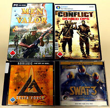 8 pc giochi collezione Gunman Metal Gear Solid MEN OF VALOR SWAT 3 USK 18 Shooter