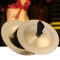 Professional 1 Pair(2 pieces)Gold Belly Dance Pure Copper Finger Cymbals Zills