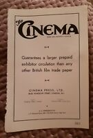 The Cinema - News & Property Gazette - 1941 Advertisement