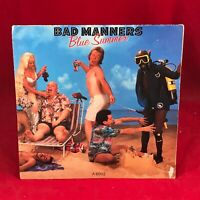 "BAD MANNERS Blue Summer 1985 UK 7""  vinyl single EXCELLENT CONDITION  45"