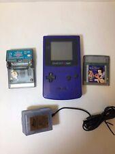 Nintendo Game Boy Color (Purple) Mod No CGB-001 Used ConditionW/2 Games/Power S