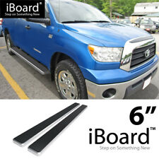 "6"" iBoard Nerf Bars Fit Toyota Tundra Double Cab 6.5ft Bed 07-17"