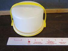 Tupperware Toys Mini Pretend Play Set Child Cake Yellow Platter Dome carry lot