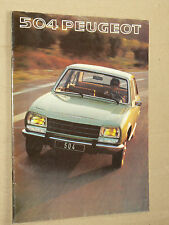 Prospectus PEUGEOT 504 1977 brochure  prospekt catalogue car