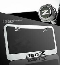 For Nissan 350Z Z33 Fairlady Z Chrome Cast Zinc Metal License Plate Frame Cap
