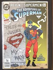 """Adventures of Superman  #501    """"Newsstand""""    Guardian    (1993)    VF/NM"""