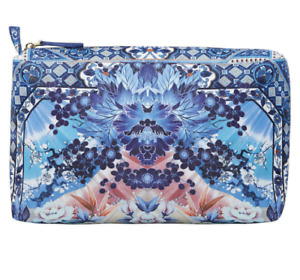NWT CAMILLA *TOKYO TRIBE* BLUE PRINT LARGE MAKEUP TRAVEL POUCH CLUTCH BAG