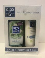 Kiss My Face Gift Set Anti-Stress Shower Gel-Olive & Aloe Lotion Discontinued